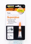 Stick2 All Purpose Superglue tube γενικής χρήσης 3gr Διαφανές